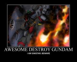 AWESOME DESTROY GUNDAM by Varezart
