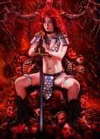 Blood Red Sonja by Mistress-Zelda