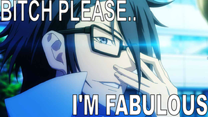 fushimi saruhiko by hamburger-san