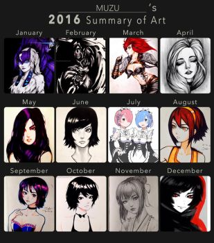 My Summary of art 2016! by MuzuArt