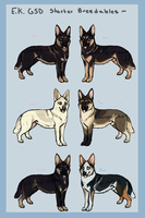 E.K.'s GSD starter dogs: Breedables! by empiredog-kennel