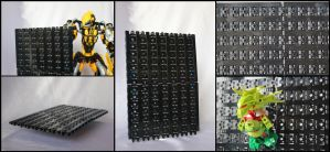 Bionicle MOC: The Multipurpose Wall by Rahiden