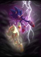 Super Shadow vs dark Sonic by 5catsonebowl