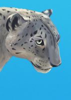 Snow Leopard - Blue by MissMondayMorning