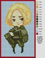 Poland Needlepoint Pattern by NightmaresInChibi