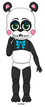 FNAF OC - Paul the panda by Pastellilapsi