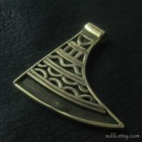 Bronze axe amulet from medieval Poland by Sulislaw