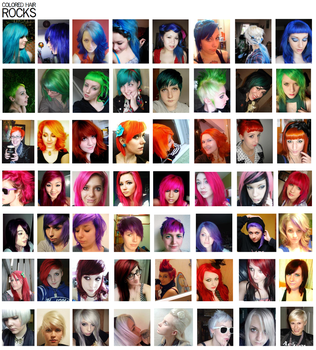 Colored hair rocks by ThugLicorice