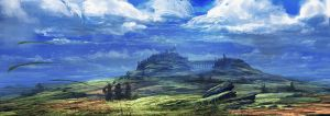 Distant castle 02 by Athayar