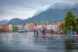 rainy weather over the Inn by Rikitza