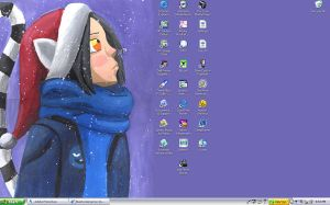 Snow Desktop by BlueRockAngel