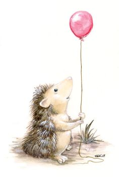 The Hedgehog's Balloon by ursulav