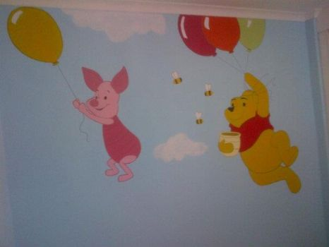 Winnie The Pooh Mural 02 by Dyly