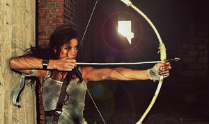 TOMB RAIDER Lara Croft cosplay 2013  bow by konradM96