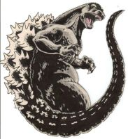 Godzilla tattoo design by Kingoji