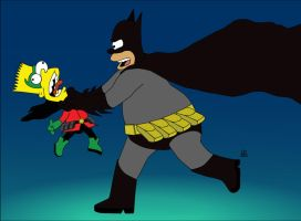 Batman-Homer-Simpsons-and-Robin-Bart-Simpsons(By-C by megaC5