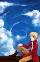 Watching the sky by Temima