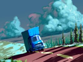 Snow Road Truck by Viking-Heart