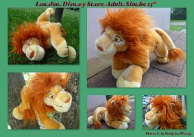 London Disney Store Adult Simba 15 Inch by DoloAndElectrik