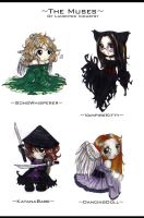 +The Muses+ 'chibi' by Djinngin