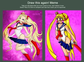 Draw this again: Sailor Moon Transformation by oOCrazyKittyOo