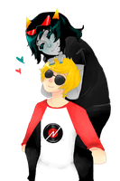 Homestuck: Dave and Terezi by Lilycal