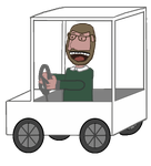 JAM 2015: Brad Muir in a Golf Cart Animation by JenniBee