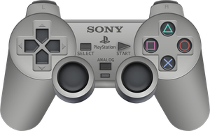 Sony PlayStation Dual Shock Controller by BLUEamnesiac