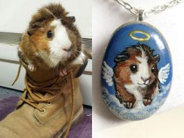 Custom Guinea Pig Pendant Necklace by sobeyondthis