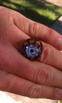 Steampunk Eye Ring by BentFenderStudios