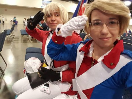 Revolutionary War UsUk cosplay by xFlame4