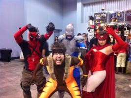 Sabretooth, Scarlet Witch, Avalanche, And Deadpool by Darth-Slayer