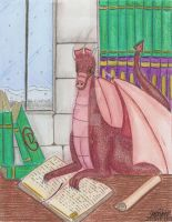 The Knowledge Keeper-the dragon of the library by HoshiBlue21