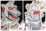 MechaGodzilla  Sketch Cards by fbwash