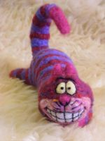SOLD Needle Felted Cheshire Cat by CVDart1990