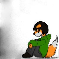 Sad fox is sad by GinoPinoy