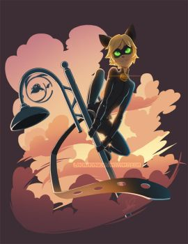 Cat Noir by Lanmana