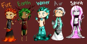 Collab Adopts: Elementals by MooniesLove