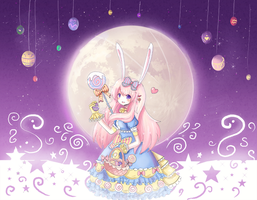 Easter-FullMoonBunny by RinRinDaishi