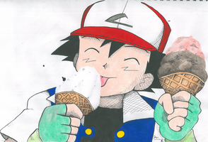 Ash and ICE CREAMZ by Destroma