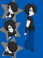 Z in Lucky Star style by zombielover94