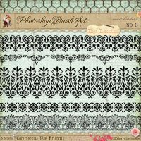 French Borders Brushes 3 by starsunflowerstudio