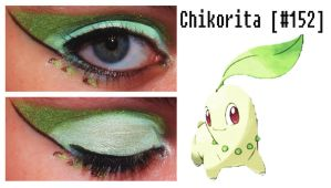 Pokemakeup 152 Chikorita by nazzara