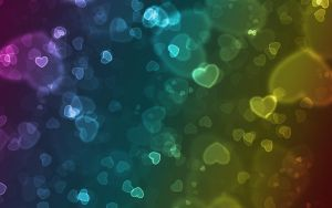 hearts bokeh wallpaper by Amr-Mohsen