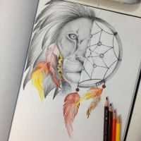 Lion/Dreamcatcher by Miilo18