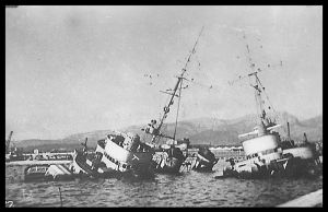 Sinking of the French Fleet 7 by parry