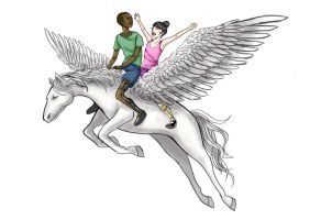 Pegasus Wings of Friendship by Gliophorus
