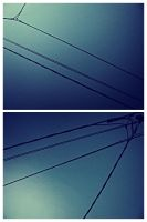 . Cable wires diptych . by JoLiTa