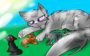 mother and kits by robinstar155