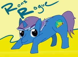 RonsRogue OC Pony by peachmix